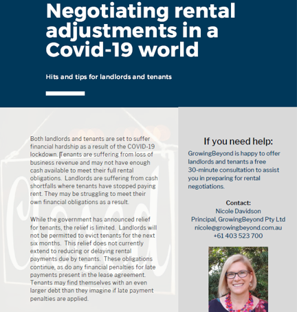Negotiating Rental Adjustments in a COVID-19 World