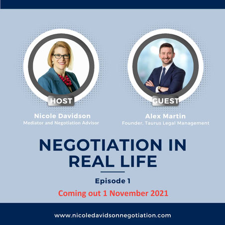 Negotiation in Real Life Podcast - Coming 1 November 2021