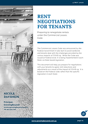 Advice for Tenants - Rental Negotiations