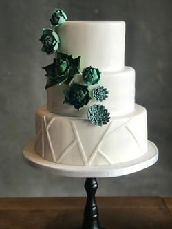 Bruidstaart succulents