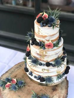 naked cake vijgen en distels onbewerkt