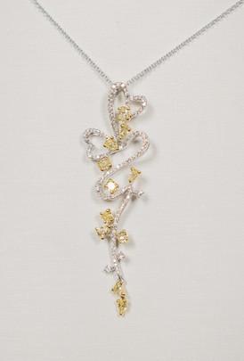 Yellow Diamond Heart Necklace