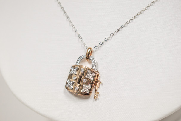 Rose Gold and Diamond Locket