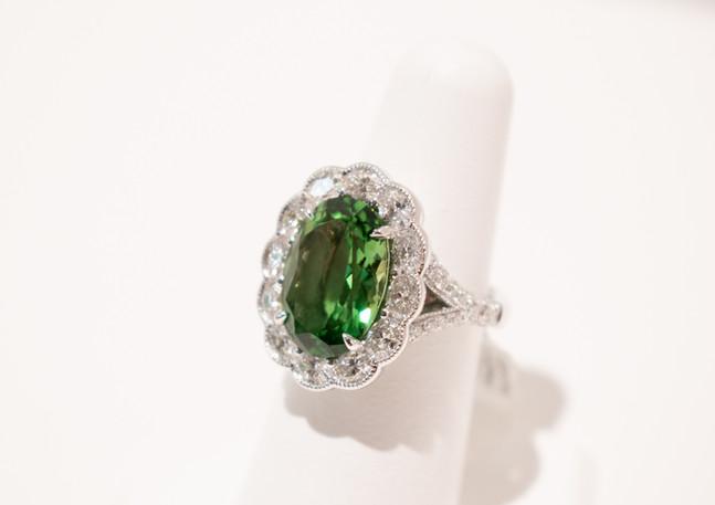 Chrome Tourmaline Ring