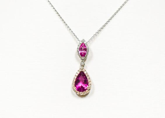 Rubellite Tourmaline Necklace