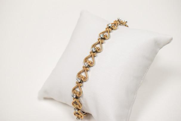 Two Tone Rose and White Gold Diamond Bracelet