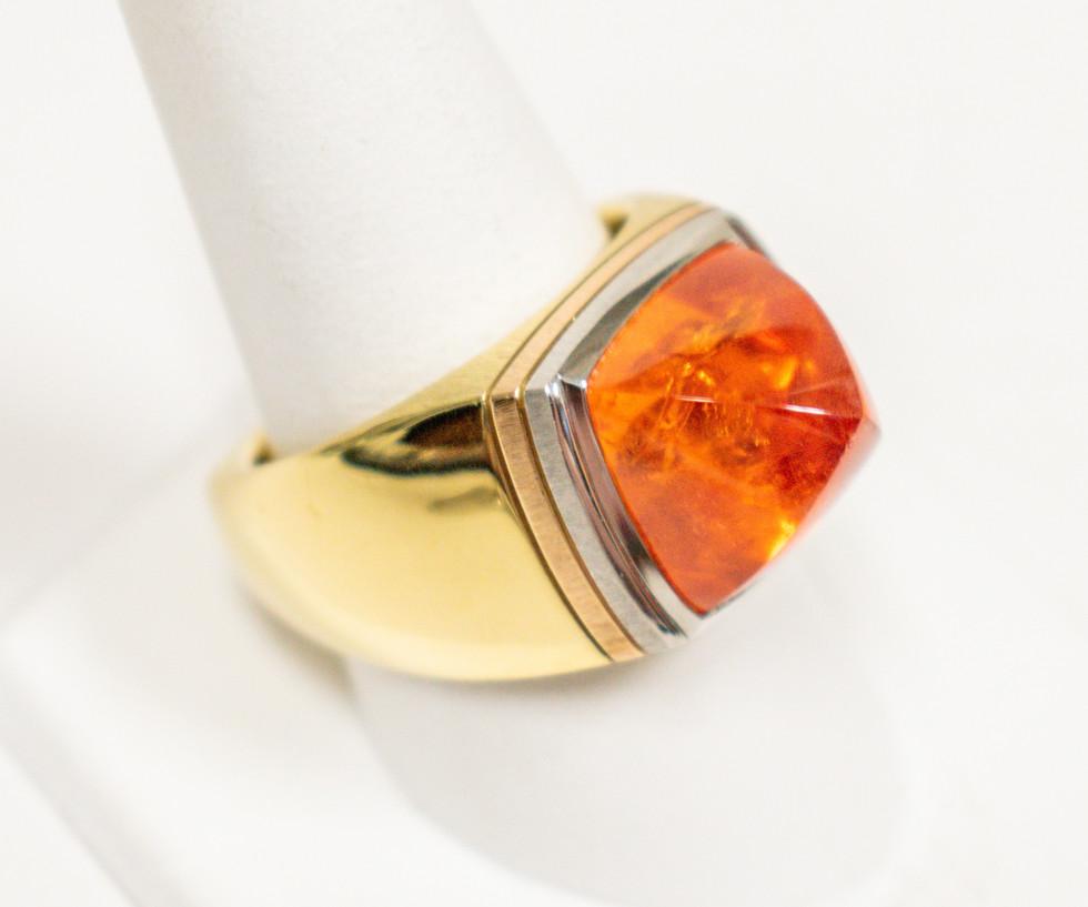Spessartite Garnet Gent's Ring