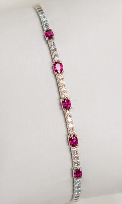 Ruby and Diamond Cuff Bracelet