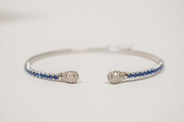 Sapphire and Diamond Cuff Bracelet