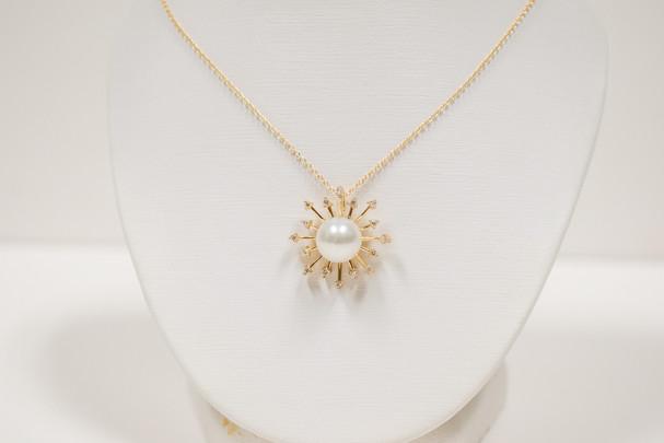 Diamond and Akoya Pearl Pendant