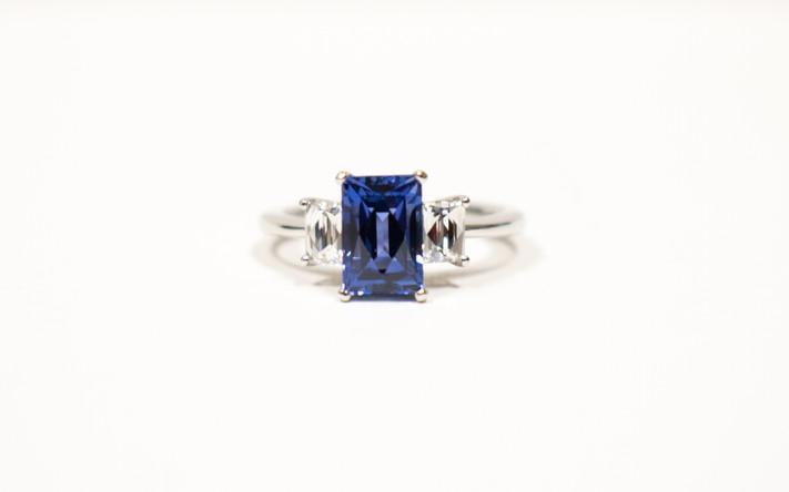 Sapphire and Diamond Ring