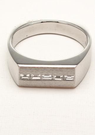 Platinum Diamond Gent's Ring
