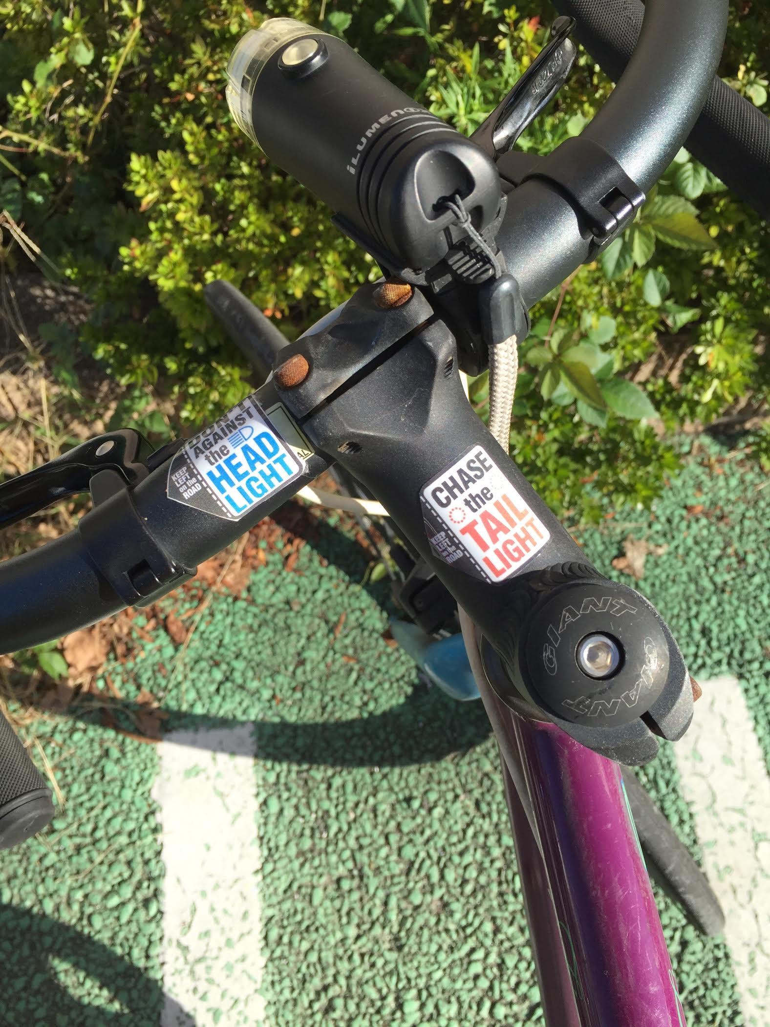 自転車にステッカー