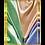 Thumbnail: 'Sunny Silk III' 60x90 / 24K gold-plated frame