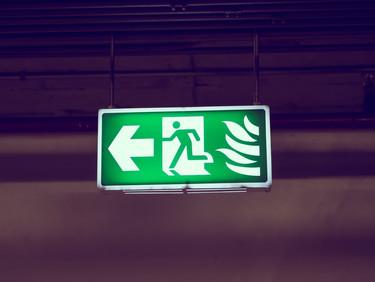 Cuidados especiais com as vias de evacuação
