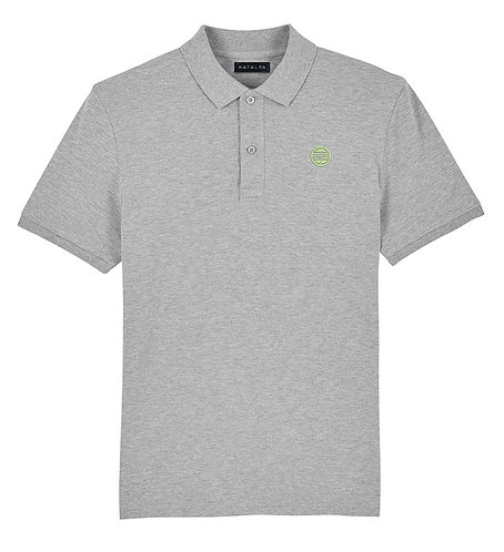 BASIC polo chiné gris (homme)
