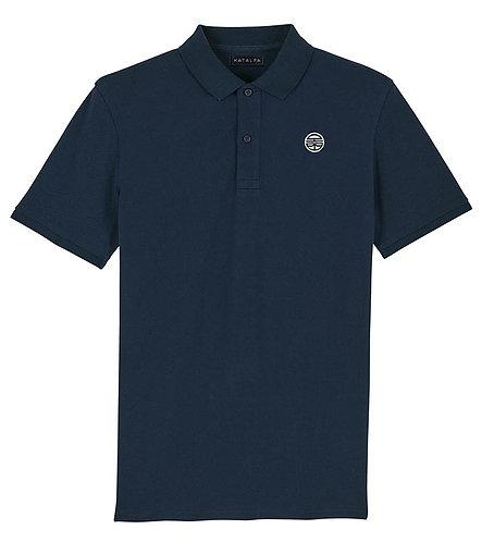 BASIC polo bleu marine (homme)