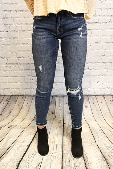 Faux Ripped Jeans