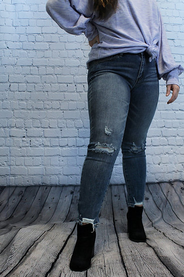 Medium Wash Ripped Jeans