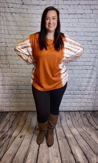 Orange Tie Dye Shirt