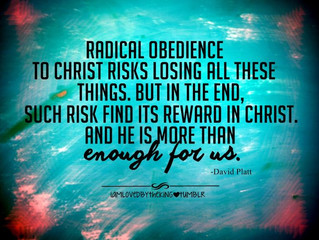 OBEDIENCE RELEASES GOD'S POWER IN YOUR LIFE