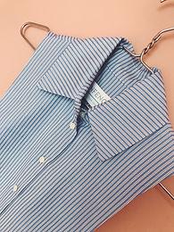 Blusenkragen blau gestreift
