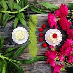 Matcha Green Tea and Raspberry