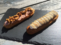 Lemon and Speculoos Eclairs