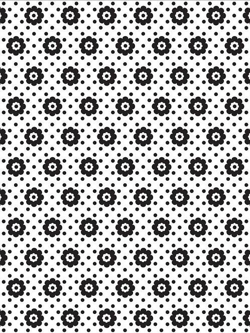 Mint Julip Flowers & Dots