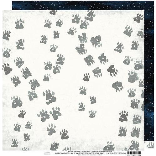 Wolf Pack Tracks Cardstock