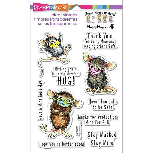 Masked Mice Clear Stamp Set