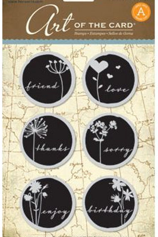 Word Shadow Cling Rubber Stamps