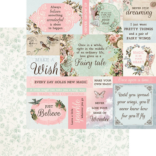 Fairy Garden Wishes Cardstock