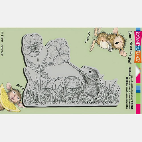 Painted Pansies Cling Rubber Stamp Set