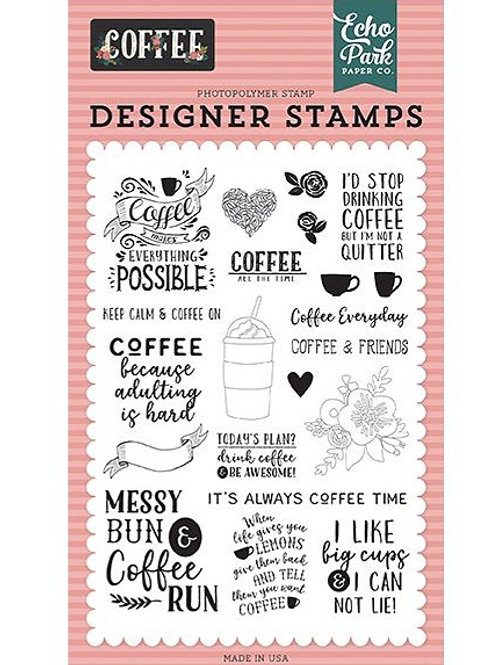 Coffee Time Clear Stamp Set