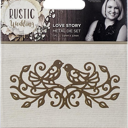 Rustic Wedding Love Story Die