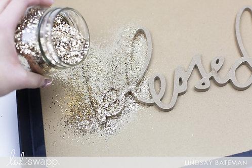 Heidi Swapp Glitter Wall Art Project