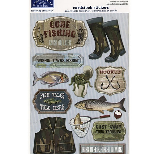 Wishin' I was Fishin' Stickers