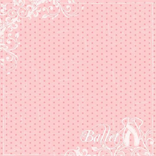 Ballet Dot Cardstock