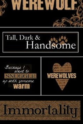 Scrapbook Customs Werewolf Stickers View 1