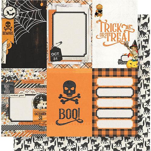 Simple Stories Vintage Halloween 4x6 Vertical Elements