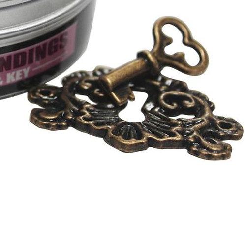 Fancy Brass Keyhole Embellishment