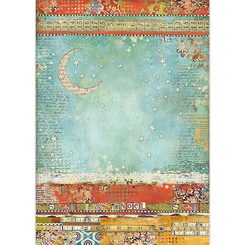 Stamperia Moon Rice Paper A3