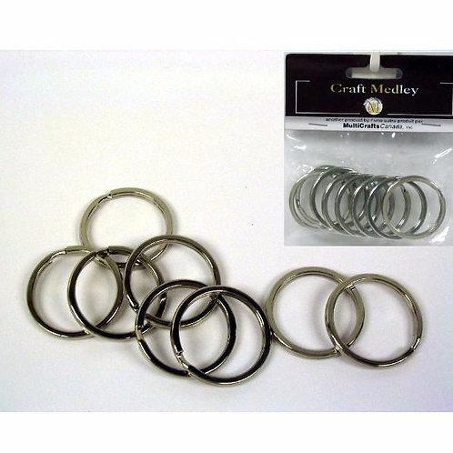 Craft Medley Key Rings 8pk