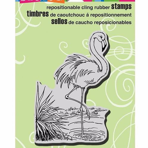 Flamingo Cling Stamp