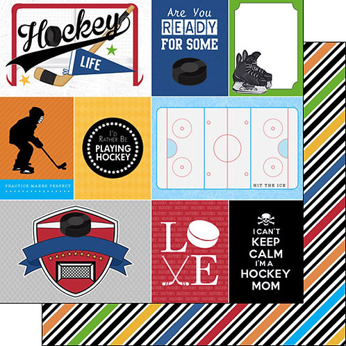 Hockey Love Journal Cardstock