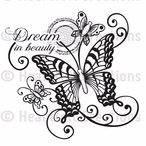 Dream in Beauty Cling Stamp