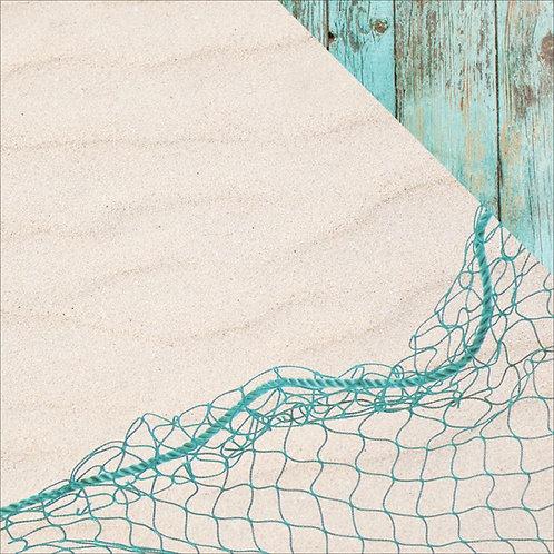 Coastal Escapes Netting Cardstock