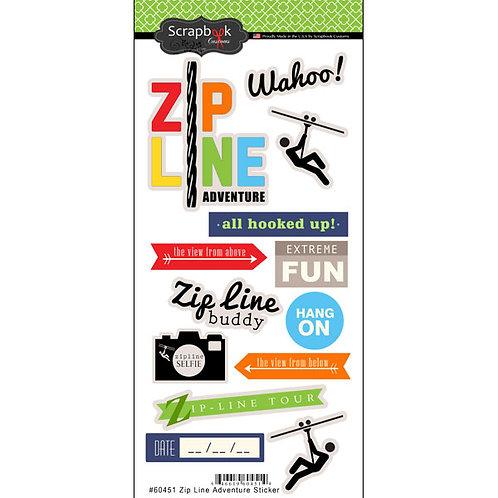 Zipline Adventure Stickers