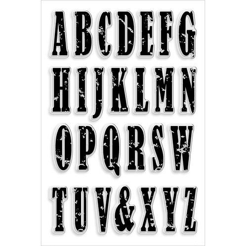Vintage Uppercase Clear Stamps